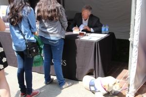 Author Stan Yocum at book signing
